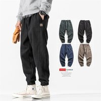 Korean fashion casual pants men's autumn and winter loose and flannel pants men's heavy cotton pants corset overalls fashion brand Harun