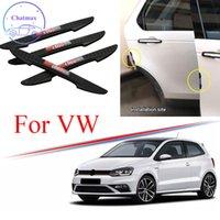 Volkswagen VW 골프를위한 3 색 유니버셜 4 5 6 7 Jetta Passat Polo GTI 4pcs PVC 자동차 Anti-Collision Strip 자동차 도어 범퍼 트림 프로텍터
