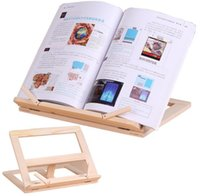 Ayarlanabilir Taşınabilir Ahşap Kitap Standı Tutucu Ahşap Bookstand Laptop Tablet Çalışma Aşçı Tarif Kitap Standları Masası Çekmece Organizatörler