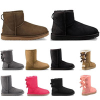 Novas mulheres botas de neve moda inverno bota clássico mini tornozelo senhoras curtas meninas meninas motas cinza preto vermelho castanho marinho azul botas curtas