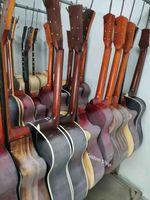 Пользовательские 12 строк стиль гиллинга в изгибе акустической гитары в натуральном черном гриве принимают настройку