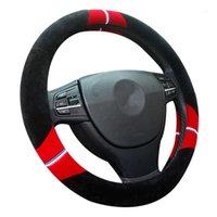 Рулевое колесо покрывает короткие плюшевые автомобильные крышки автомобиля творческие женщины девушки пользуются теплой зимней модой 15 дюймов1