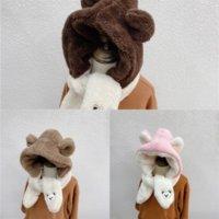 Zriji Skinny Lady Cintas Bufanda Niños Mantenga las bufandas cálidas Wraps Long New Print Infantil Hat Hatter Bag Bear Bear Bordery Silk Brand