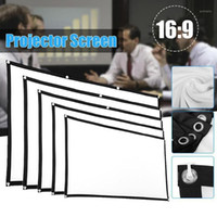 16: 9 Simple Projector Curtain 60 72 84 100 120 150 inch Port...