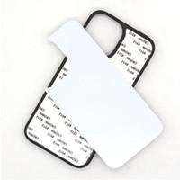 2021 Boş 2D Süblimasyon TPU PC Telefon Kılıfı iPhone 12 Mini 11 Pro x XS Max XR 7 8 6 Artı SE Alüminyum Ekler ile