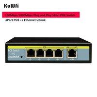 مفاتيح الشبكة 48V PoE التبديل RJ45 HUB 100Mbps 5 منافذ إيثرنت سريع الوسائط محول LAN SPLENTER مع 4 50-200M المسافة