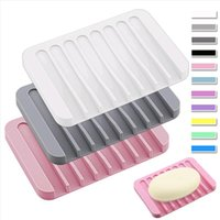 Silikon-Seifenschalen Plattenhalter-Tablettabstiegsduschewasserfal für Badezimmerküchenzähler 16 Farben WQ730-WLL