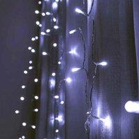 Скидка 1200 светодиодный теплый белый свет романтический рождественские свадьбы открытый украшения занавес строки света на US стандартный теплый белый ZA000935
