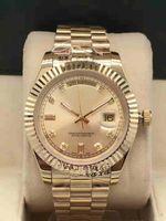 2019 neue hochwertige großhandel watch tag datum mechanical glide glatte 40mm herren uhr edelstahl gelbeelband armbanduhren