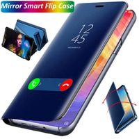 فاخر الذكية مرآة فليب الهاتف القضية لشركة إل جي V60 Q60 K50 K61 K50S V30 V50 V40 V30 زائد G8 حالة تغطية