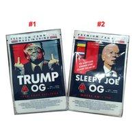 Più nuovo Trump OG Sleepyy Joe OG Mylar Bag 3.5G Dry Herb Flower ReseAlable Storage Bags per 420 Cali Packs