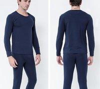 긴 존스 망 세트 열 속옷 남자 Largo Johns 속옷은 남성 의류에 대 한 코튼 얇은 대형 옷을 설정합니다.