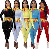 النساء عداء ببطء الأزياء طويلة الأكمام هوديس السراويل XL 2 قطعة مجموعة ملابس الخريف الشتاء عارضة الملابس المحاصيل الأعلى البلوز كابريس 4023