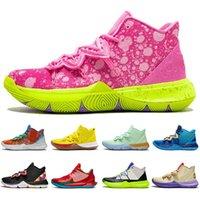 Üst Kyrie IrvingSpongeBob 5 5 S Jumpman Erkekler Basketbol Ayakkabıları Arkadaşlar ABD Patrick Erkek Eğitmenler Spor Sneakers Boyutu 7-12
