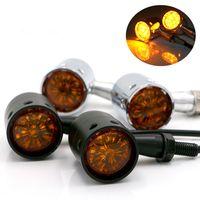 Signaux de moto rétro Indicateurs d'ampoule Clignotants Clignotants pour Harley Honda Yamaha Suzuki Kawasaki Cruiser Choppers