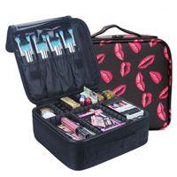 Qehiie marca caso cosmético de alta qualidade oxford pano saco cosmético organizador de viagens mulheres esteticista grande capacidade maquiagem bag1