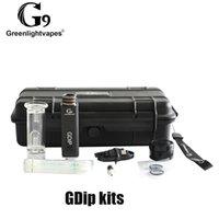 100% Original G9 GreenLightVapes GDIP Kit Cera Dap Caneta 1000mAh Bateria e Superaquecimento Proteção Com 2 Pontas VAPER W2 W3 Authentic