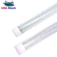 V 모양의 통합 LED 튜브 빛 4ft 5ft 6ft 8ft LED 튜브 T8 72W 100W 144W 양면 전구 가게 가벼운 쿨러 도어 빛