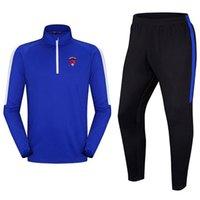 20-21 Clermont Ayak Sıcak erkek Eğitim Suit Polyester Ceket Yetişkin Açık Koşu Eşofman Çocuklar Futbol Takım Boyutu 24