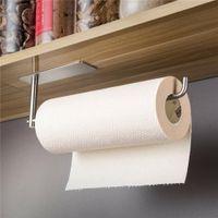 Home Aufbewahrungsgewebe Regal Organizer Papiergewebe Halter Selbstklebende Handtuchhalterregal für Küche Badezimmer Lagerung