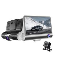 2021 جديد 4.0 بوصة كامل hd 1080 وعاء سيارة dvr عدسة مزدوجة الكاميرا للرؤية الليلية مسجل الرؤية الخلفية 3 كاميرات سيارة مسجل فيديو داشام كامكروردر