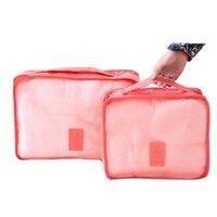 Storage Bags 6 Pcs Travel Storage Bag Set For Clothes Tidy Organizer Wardrobe Pouch Travel Organizer Bag Case Shoe jllcUj ladyshome