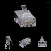 10 adet RJ45 8-Pin Bağlayıcı CAT6 Ağ Kablosu Modüler Ethernet Kristal Fişler Bırak Ship1