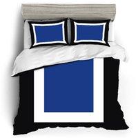 مجموعات الفراش الملونة عالية الجودة مجموعة الفاخرة حاف الغطاء ملاءات السرير وسادات المنسوجات المنزلية الكتان القطن