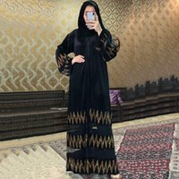 MD muçulmano moda abayas para mulheres Dubai Turkish pedras de manga longa vestido de noite elegante vestidos islâmicos vestuário marroquino kaftan1