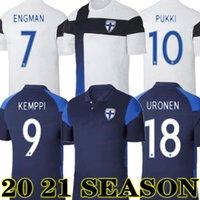 جديد 2020 فنلندا كرة القدم الفانيلة جديد pukki skrabb raitala jensen اللود المنزل الأبيض كرة القدم قميص قصير الأكمام الزي البالغ