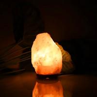 Nieuw Ontwerp Premium Kwaliteit Himalaya Ionische Crystal Salt Rock Lamp met dimmer kabel Switch US Socket 1-2 kg Nachtverlichting
