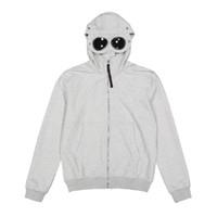 Topstoney Saf Euro-Amerikan Basit Kişilik Trend Sıhhi Giyim Ceket Fermuar ve Şapka Sıhhi Giysileri Gözlük Fermuar Hoodie