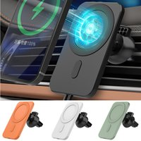 Держатель автомобиля E6 Беспроводное автомобильное зарядное устройство Автоматический зажим Быстрая зарядка для iPhone Android Vent Vent Holder Holder 360 градусов вращение быстрой зарядки