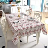 Tabela decorativa de pano de algodão Tablecloth Mesa de jantar retangular Abrus Tafelkleed for Party Christmas Decor