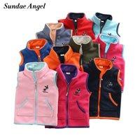 Gilet di angelo sundae per gilet gilet per gilet per bambini Gilet per bambini per boy ricamo asino modello Polar Fleece Cappotti 201106