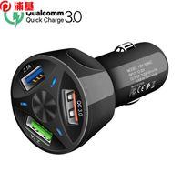 QC 4.0 3.0 Chargeur de voiture USB Chargeur rapide Chargeur mobile Chargeur 3 ports USB Chargeur de voiture rapide pour iPhone Samsung Tablet