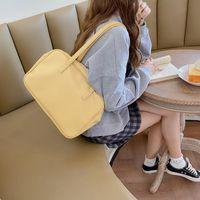 حقائب الكتف الفتيات اليابانية كتاب المدرسة حقيبة مراهقين الكورية الأزياء بو الجلود jk ركاب حقيبة تأثيري الأصفر الأسود الأعلى مقبض BA