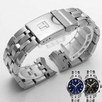 Shengmeirui 19mm Prc200 T055417 T055430 T055410 T055410 montre de montre de montre mâle bande solide bracelet en acier inoxydable Strap lj201124