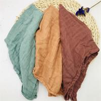 60 * 60 cm Bambu Burp Pano Muslin Fralda Bebê Swaddle Cobertores Qualidade melhor do que Algodão Orgânico Multi-use Cobertor Infantil Envoltório 201210
