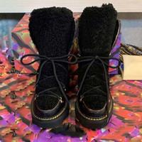 Bottes de neige d'hiver de la mode Véritable glissière en fourrure cuir étanche hiver chaud genou chaud bottes haute bottes de mode à l'extérieur bottillons martin boot l310 02