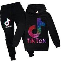 Tiktok Tracksuit for Teenage Boy Girl Sport Set Fashion Kid Sweat à capuche Top + Sport Pantalon 2PC Outfit Enfants Vêtements