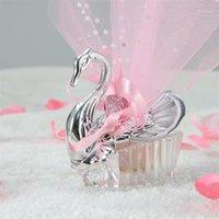 Prezent Wrap 10 Sztuk Swan Candy Box Chocolate Box Box Creative Hollow Out Pudełka na Wesele Urodziny Urodziny Favor Rozmiar S (Pink) 1