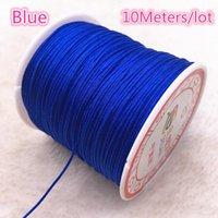 10 metros de lote 0.8 1.0 mm cuerda de nylon hilo nudo chino macrame cordón pulsera trenzado cadena bricolaje tassels de abalorios hilo H jllkpn