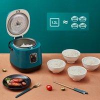 طباخ الأرز المصغر الكهربائي 1.2L آلة الطبخ غير عصا واحدة / مزدوجة الطبقة المتاحة وعاء الساخنة صانع حساء عصيدة متعددة