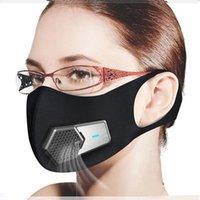 1 STÜCKE Smart Electric Fan Masks PM2.5 staubdichte Maske Anti-Umweltbelastung Pollen Allergy Atmungsaktive Gesicht Schutzabdeckung 4 Schichten Schutz DHL