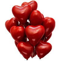 Partijdecoratie 50st Ruby Red Heart-Shaped Love Ballon Dubbellaags voor Bruiloft Stage