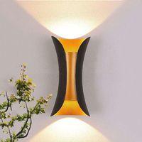 Oberflächenmontierte LED wasserdichte Indoor Outdoor-LED-Wandlampe 6W 10W Aluminium einstellbares Würfelgarten-Veranda-Licht mit Fahrer