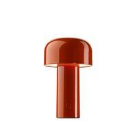 Lampada da tavolo Minimalista LED Bianco / Nero / Red Model Room Bedroom Study Iron Art Desk Desk Night Lights Modern Carino Funghi Apparecchi di funghi Nuovo arrivo