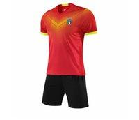 2021 إيطاليا تشغيل الرياضية السريعة الجافة الاطفال كرة القدم جيرسي الكبار التدريب القصير مجموعة الرجال كرة القدم جيرسي