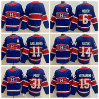 Retro Retro Montreal Canadiens HOCKEY 15 Jesperi Kotkaniemi Jerseys Brendan Gallagher Carey precio en Shea Weber Jonathan Drouin Nick Suzuki